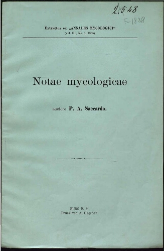 Notae mycologicae. Series 6