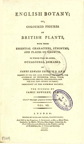 English botany [...] Vol. XII