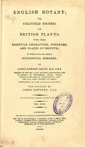 English botany [...] Vol. XVII