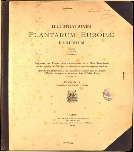 Illustrationes plantarum Europae rariorum. Fasc. 10