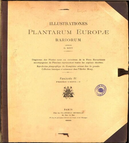 Illustrationes plantarum Europae rariorum. Fasc. 4
