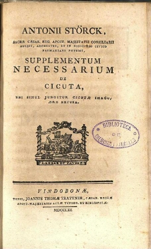 Supplementum necessarium de Cicuta