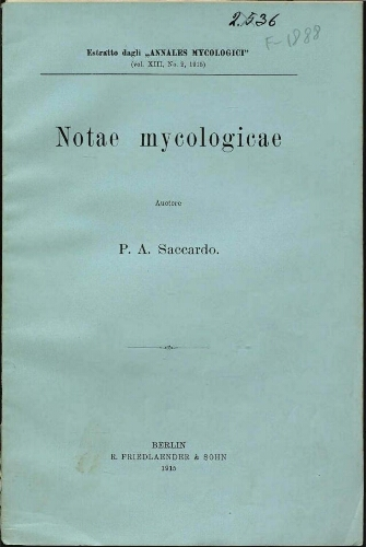 Notae mycologicae. Series 19