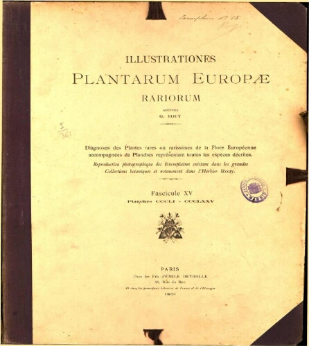 Illustrationes plantarum Europae rariorum. Fasc. 15